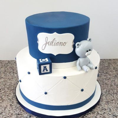 Juliano's blue and white