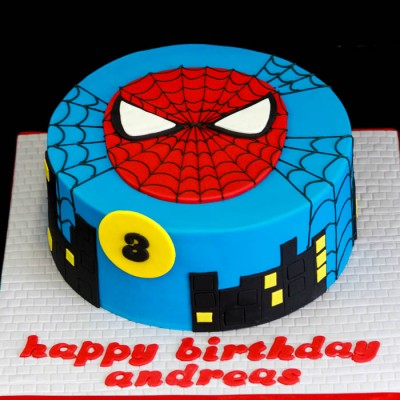 Spiderman face (fondant)