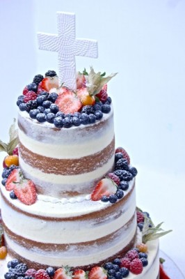 Naked Cake with Cross