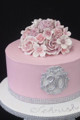 Pink and silver 30th