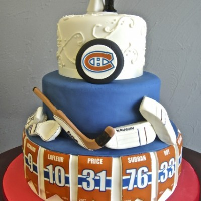 legends of the canadiens wedding cake