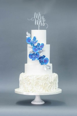 4-tier Blue Orchids