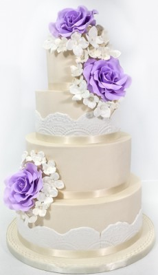 4-tier purple flowers