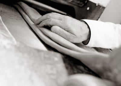 Flattening the dough