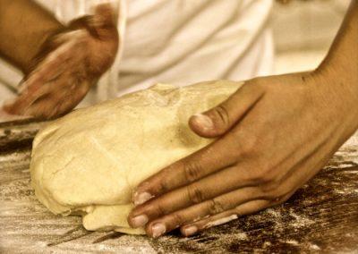 Preparing our dough