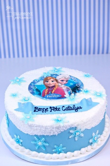 Brilliant Disney Frozen Theme Cakes Patisserie Tillemont Personalised Birthday Cards Sponlily Jamesorg