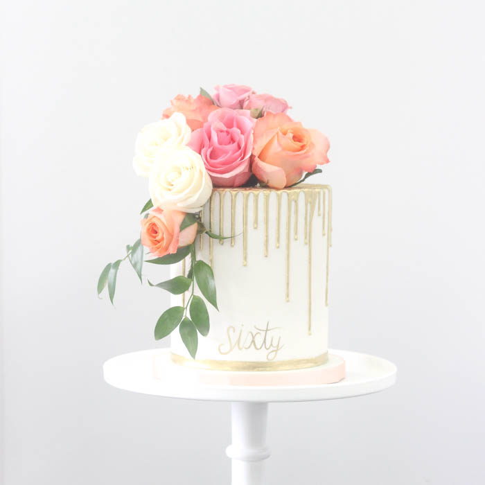 Single Tier White Cake Stand