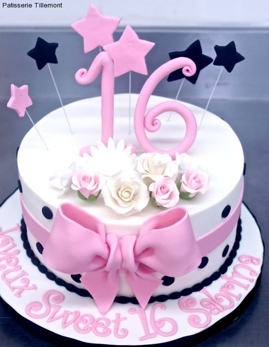 Admirable Sweet 16 Cakes Patisserie Tillemont Personalised Birthday Cards Veneteletsinfo
