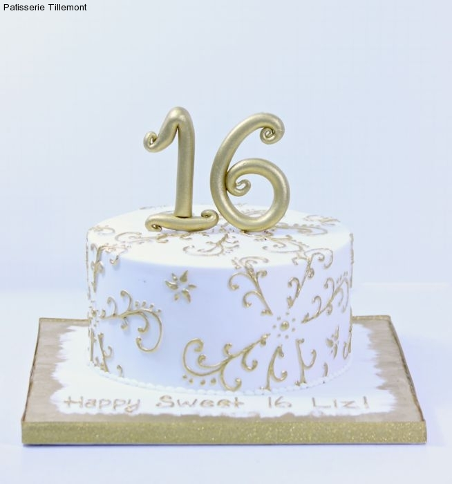 Astounding Sweet 16 Cakes Patisserie Tillemont Personalised Birthday Cards Veneteletsinfo
