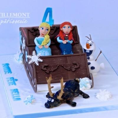 anna and elsa sleigh frozen