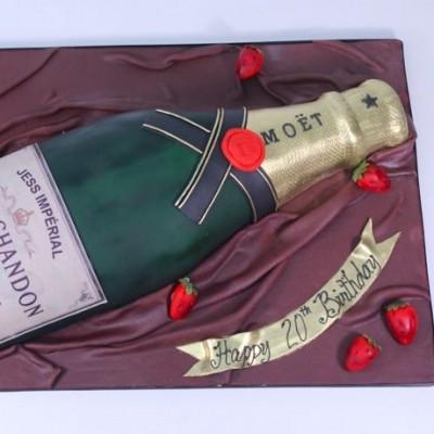 Bottle of Champagne Moët & Chandon