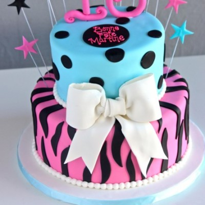 baby blue & pink with zebra