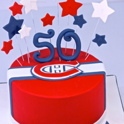1-tier montreal canadiens (fondant logo)