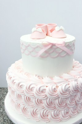 Light pink rosettes