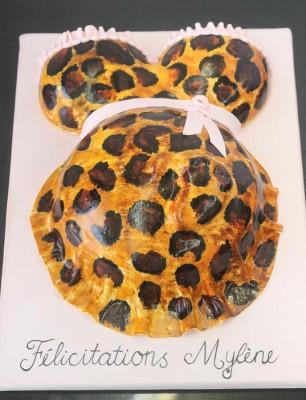 Femme enceinte leopard