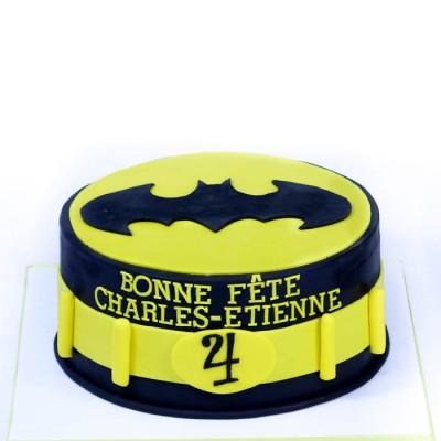 Batman logo (fondant)