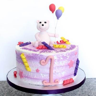 Fun pink bear