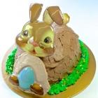 Chocolate ganache bunny