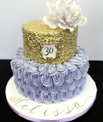 Lilac and gold sequins