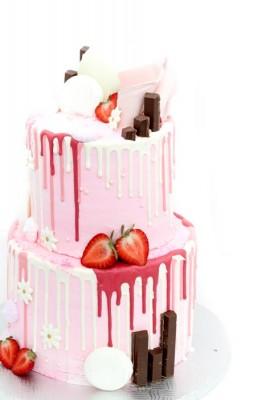 2-tier pink drip