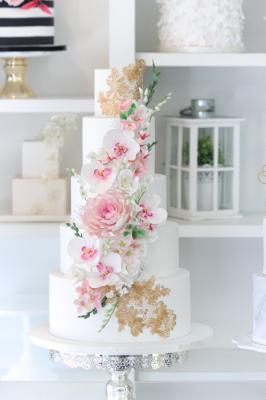 5-tier Rose with Gold